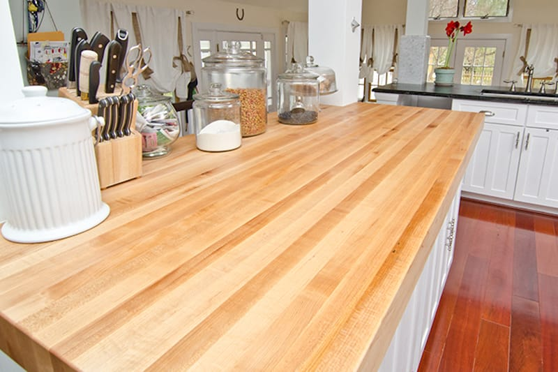 Thick Maple Kitchen Island Maryland Wood Countertops
