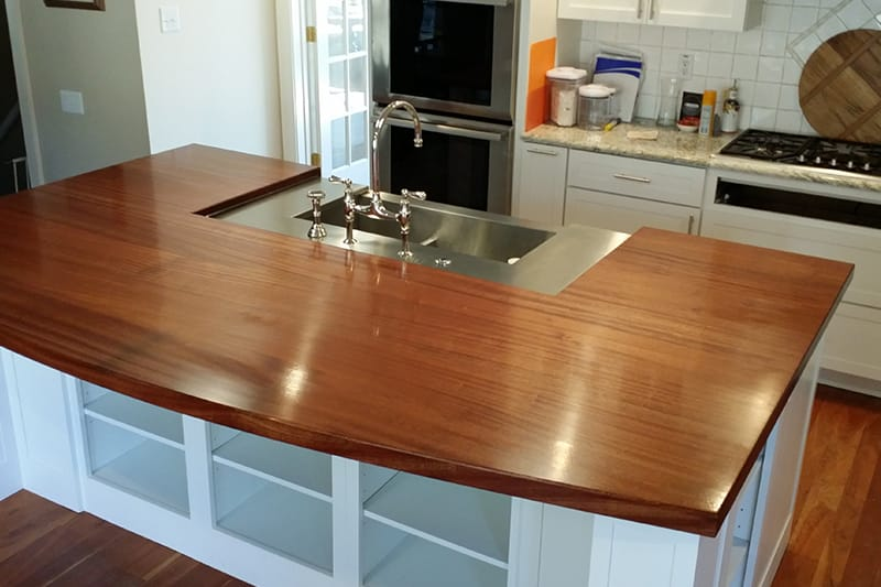 Mahogany Island Maryland Wood Countertops