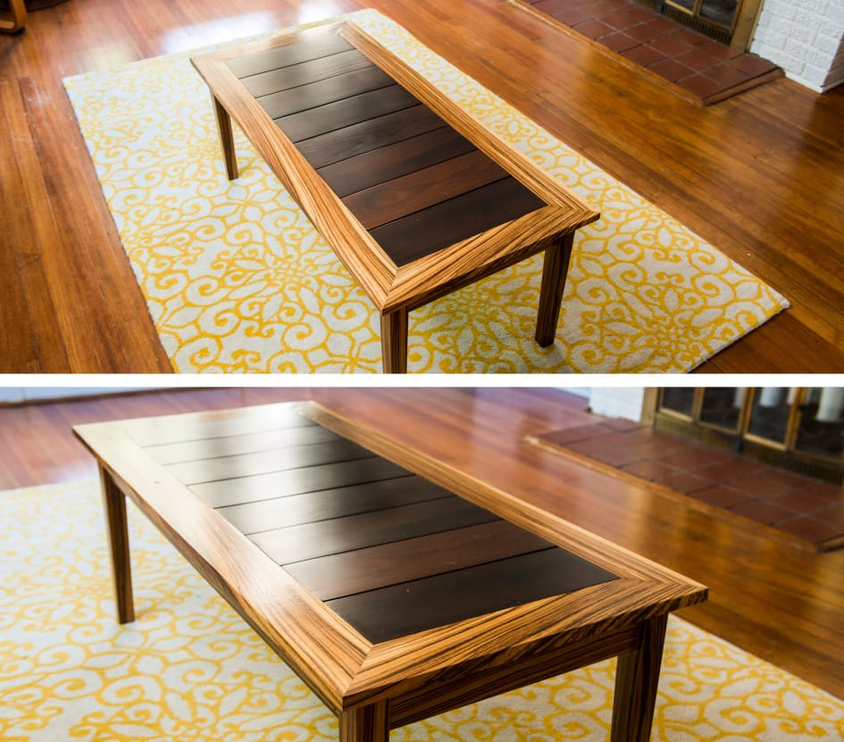 Zebrawood Coffee Table Maryland Wood Countertops