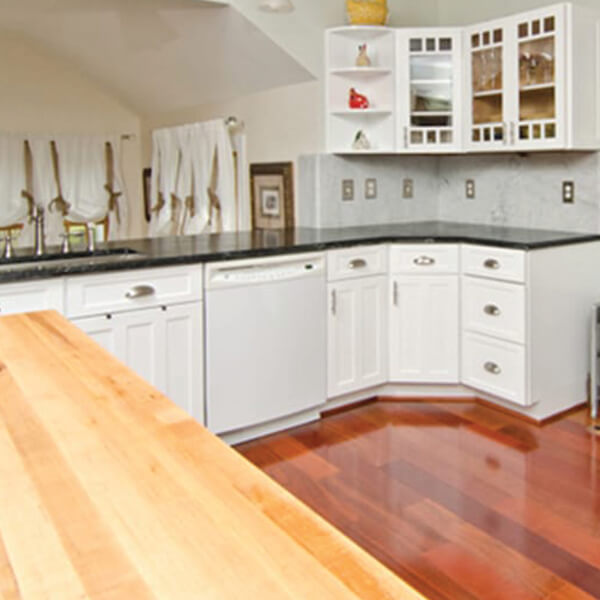 Maple Kitchen Countertops: Thick Maple Kitchen Island