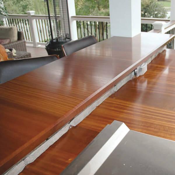 Outdoor Mahogany Bar Top Maryland Wood Countertops