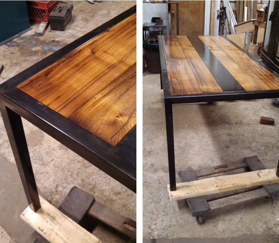 CHESTNUT STEEL INLAY TABLE-1