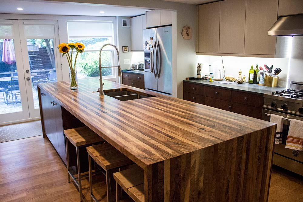 Butcher Block Style Kitchen Counter : How to Maintain Your Custom Butcher Block Counter
