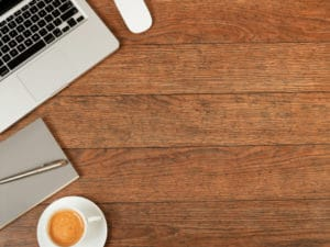 This Wood Desk Top Provides the Perfect Work Area