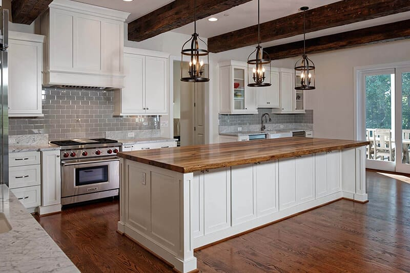 Solid Wood Kitchen Island Top